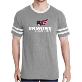 Grey Heather/White Tri Blend Varsity Tee-Erskine Flying Fleet Stacked