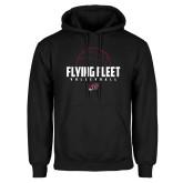Black Fleece Hoodie-Flying FleVolleyball