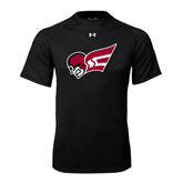 Under Armour Black Tech Tee-Flying Fleet Head
