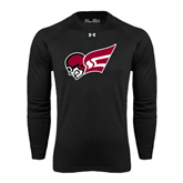 Under Armour Black Long Sleeve Tech Tee-Flying Fleet Head