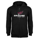 Black Fleece Full Zip Hoodie-Erskine Flying Fleet Stacked
