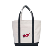 Contender White/Black Canvas Tote-Flying Fleet Head