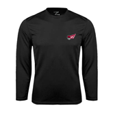 Performance Black Longsleeve Shirt-Flying Fleet Head