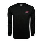 Black Long Sleeve TShirt-Flying Fleet Head