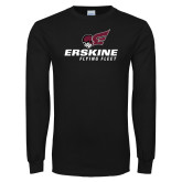 Black Long Sleeve T Shirt-Erskine Flying Fleet Stacked