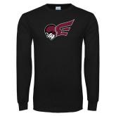 Black Long Sleeve T Shirt-Flying Fleet Mascot