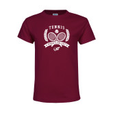 Youth Maroon T Shirt-Tennis