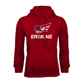 Cardinal Fleece Hoodie-Erskine w/Flying Head