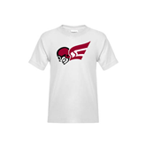 Youth White T Shirt-Flying Fleet Head