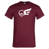 Maroon T Shirt-Flying Fleet Mascot