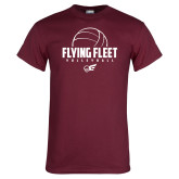 Maroon T Shirt-Flying FleVolleyball