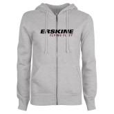 ENZA Ladies Grey Fleece Full Zip Hoodie-Erskine College