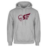 Grey Fleece Hoodie-Flying Fleet Mascot