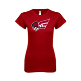 Next Level Ladies SoftStyle Junior Fitted Cardinal Tee-Flying Fleet Head