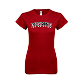 Next Level Ladies SoftStyle Junior Fitted Cardinal Tee-Arched Erskine Flying Fleet