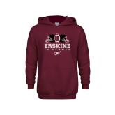 Youth Maroon Fleece Hoodie-Erskine Football