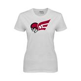 Ladies White T Shirt-Flying Fleet Head