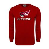 Cardinal Long Sleeve T Shirt-Erskine w/Flying Head