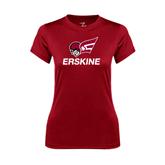 Ladies Syntrel Performance Cardinal Tee-Erskine w/Flying Head