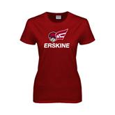 Ladies Cardinal T Shirt-Erskine w/Flying Head