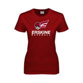 Ladies Cardinal T Shirt-Baseball