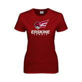 Ladies Cardinal T Shirt-Tennis