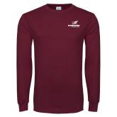 Maroon Long Sleeve T Shirt-Erskine Flying Fleet Stacked