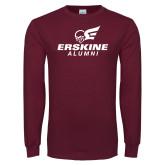 Maroon Long Sleeve T Shirt-Alumni