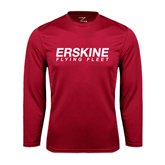Performance Cardinal Longsleeve Shirt-Erskine Flying Fleet Wordmark