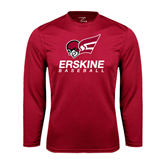 Performance Cardinal Longsleeve Shirt-Baseball