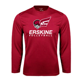 Performance Cardinal Longsleeve Shirt-Volleyball