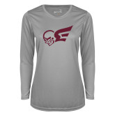 Ladies Syntrel Performance Platinum Longsleeve Shirt-Flying Fleet Mascot