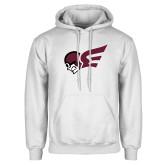 White Fleece Hoodie-Flying Fleet Mascot