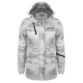 Ladies White Brushstroke Print Insulated Jacket-Erskine Flying Fleet Horizontal