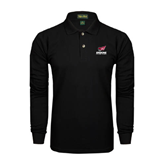 Black Long Sleeve Polo-Official Logo