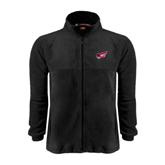 Fleece Full Zip Black Jacket-Flying Fleet Head