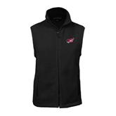 Fleece Full Zip Black Vest-Flying Fleet Head