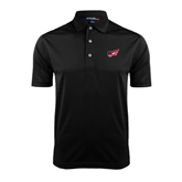 Black Dry Mesh Polo-Flying Fleet Head