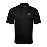 Black Mini Stripe Polo-Flying Fleet Head