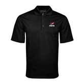 Black Mini Stripe Polo-Official Logo