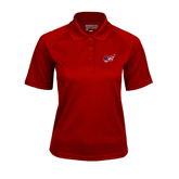 Ladies Cardinal Textured Saddle Shoulder Polo-Flying Fleet Head