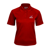 Ladies Cardinal Textured Saddle Shoulder Polo-Erskine w/Flying Head