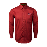 Cardinal Twill Button Down Long Sleeve-Flying Fleet Head