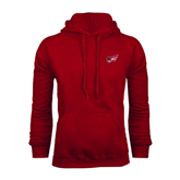 Cardinal Fleece Hoodie-Flying Fleet Head