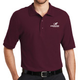 Maroon Easycare Pique Polo-Erskine Flying Fleet Stacked
