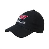 Black Heavyweight Twill Pro Style Hat-Erskine w/Flying Head