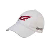 White Twill Unstructured Low Profile Hat-Flying Fleet Head