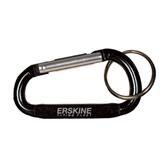 Black Carabiner with Split Ring-Erskine Flying Fleet Wordmark Engraved