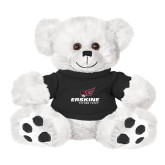 Plush Big Paw 8 1/2 inch White Bear w/Black Shirt-Erskine Flying Fleet Stacked