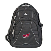High Sierra Swerve Black Compu Backpack-Flying Fleet Head